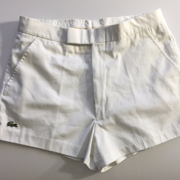 b7d156e0f2f Lacoste Other - LACOSTE Vintage Men's Size 32 Tennis Shorts White